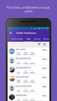 Mass Unfollowers for Twitter screenshot 3