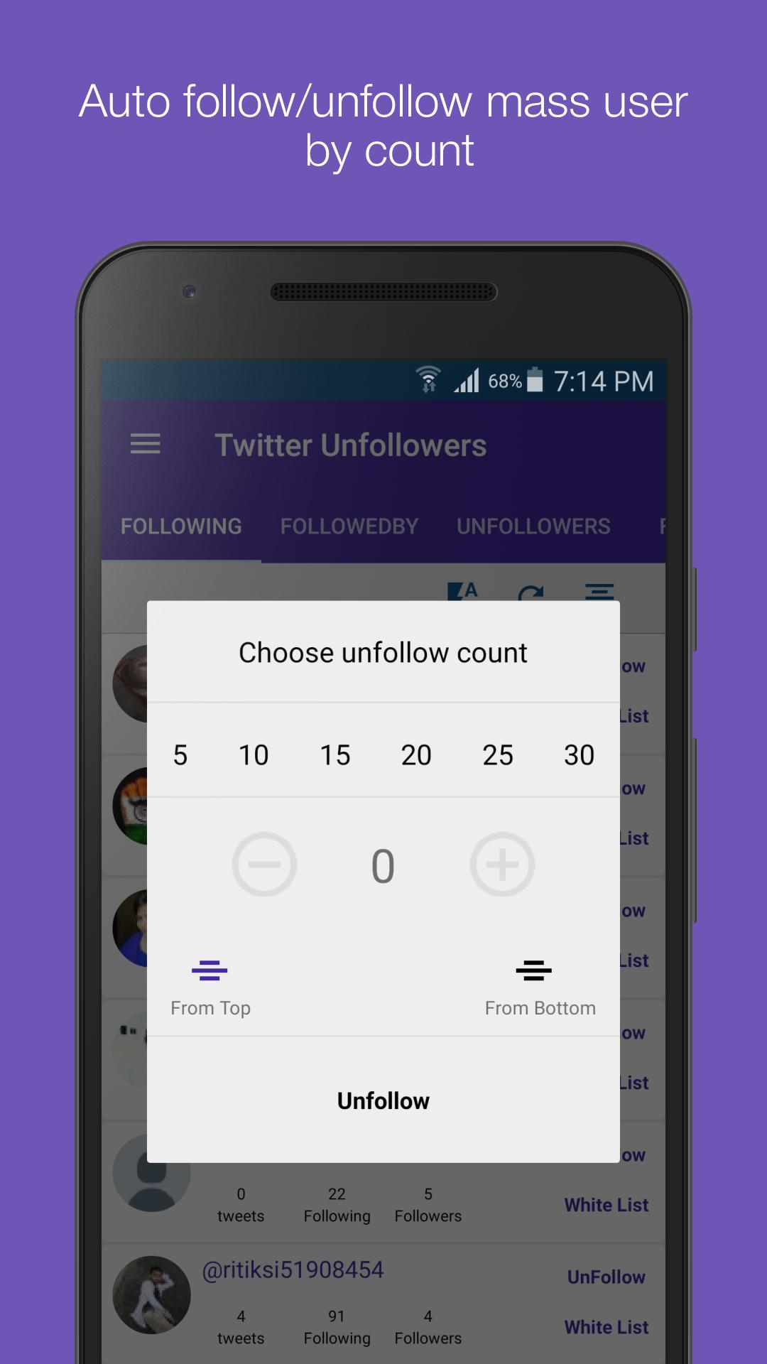 Mass Unfollowers for Twitter for Android - APK Download