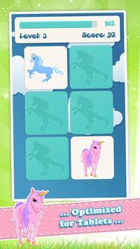 为孩子们的独角兽记忆游戏 截图 6