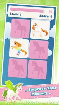 为孩子们的独角兽记忆游戏 截图 1