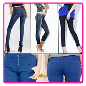 Ladies Fashion Jeans Designs icon