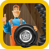 Tyre Repair Shop – Garage Game icon