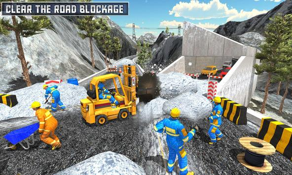 Snow Heavy Excavator Simulator 2019 screenshot 1