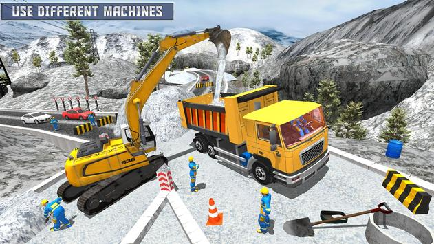Snow Heavy Excavator Simulator 2019 screenshot 6