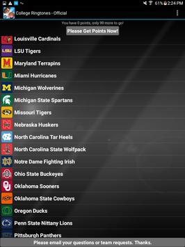COLLEGE FIGHT SONG RINGTONES – OFFICIAL screenshot 10