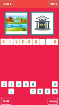 Guess the word - 2 pictures 1 word poster