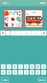 Pictures to word quiz poster