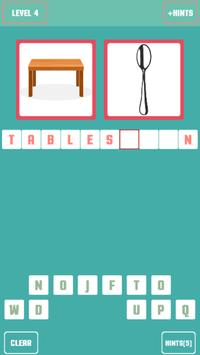 Pictures to word quiz screenshot 3