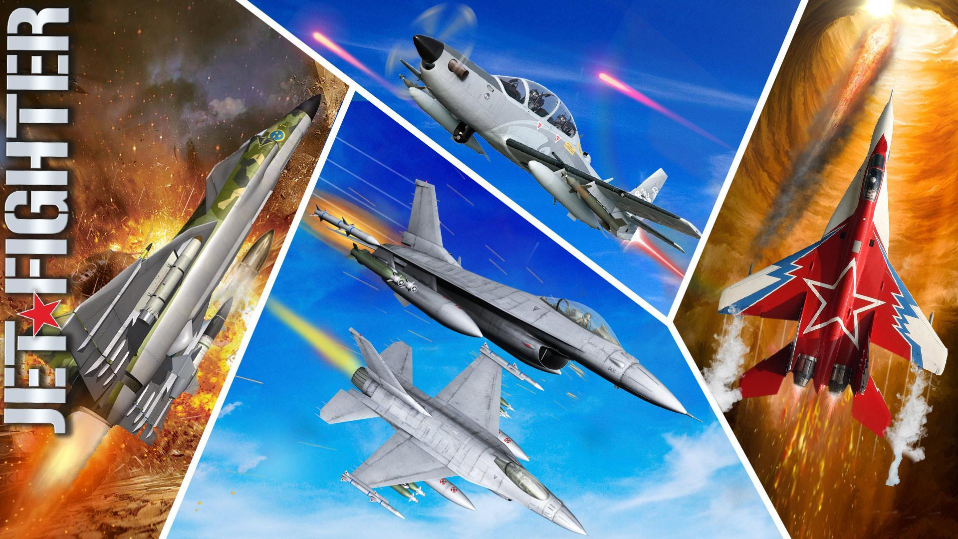 Jet Fighter Plane 3D – Air Sky Fighter Sim 2017 for Android - APK