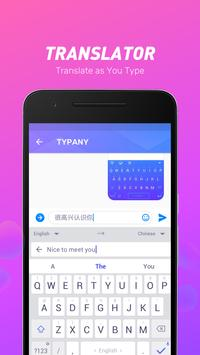 Typany Keyboard - Themes & GIF, DIY, Emoji Maker apk screenshot