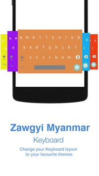 Zawgyi Myanmar Keyboard screenshot 1