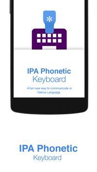 IPA Phonetic Keyboard poster