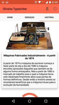 Oliveira Typewriter screenshot 2