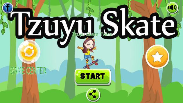 Tzuyu Skate Twice PRO poster