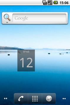 Week number widget poster