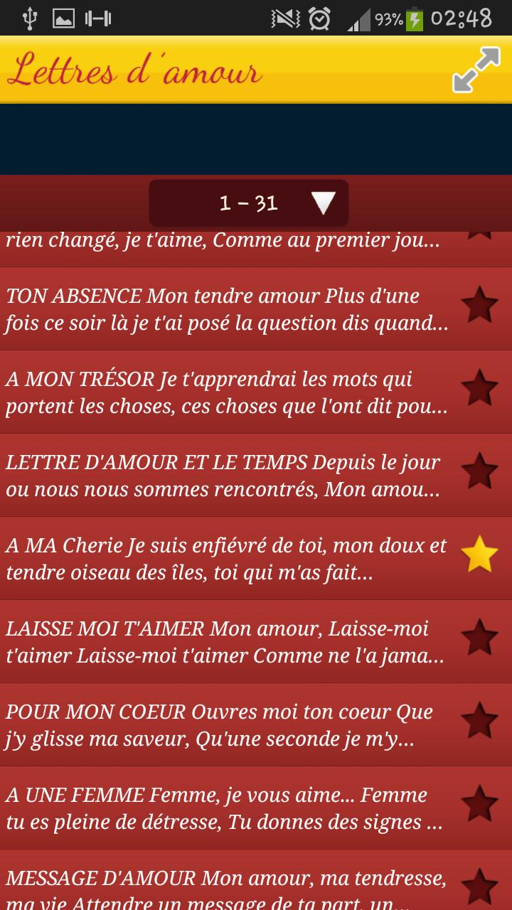 Love Letters In French For Android Apk Download