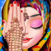 Muslim Hijab Makeover And Hand Art icon