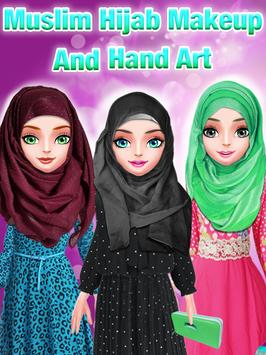 Muslim Hijab Makeover And Hand Art poster
