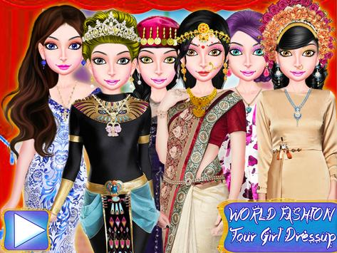 WORLD FASHION Tour Girl Dressup-All Country Dress screenshot 7