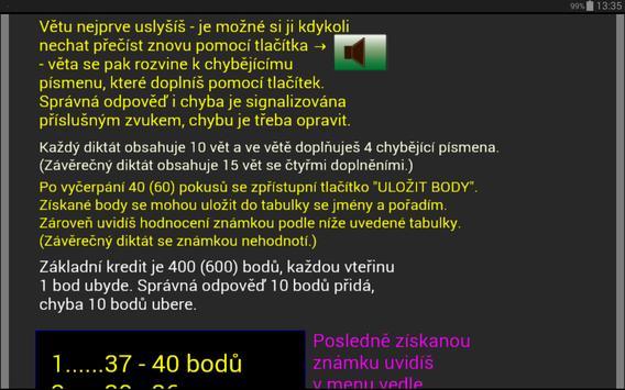 Čj-diktáty pro 2. ročník ZŠ apk screenshot