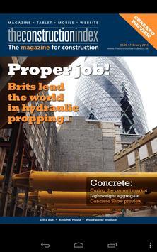 Construction Index Magazine poster
