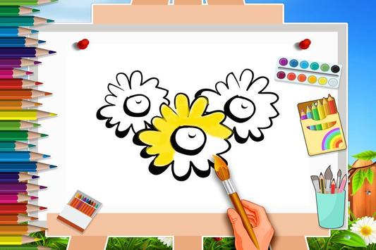 Dibujo para colorear con flores for Android - APK Download