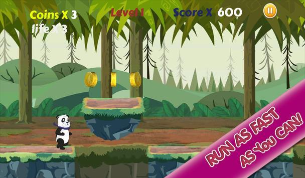 Panda Run Jungle apk screenshot