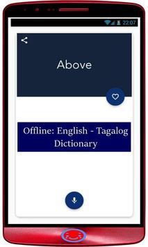Offline: English - Tagalog Dictionary screenshot 1