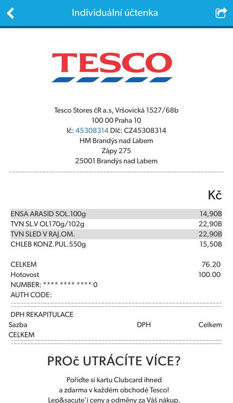 Tescotag Elektronicka Uctenka For Android Apk Download