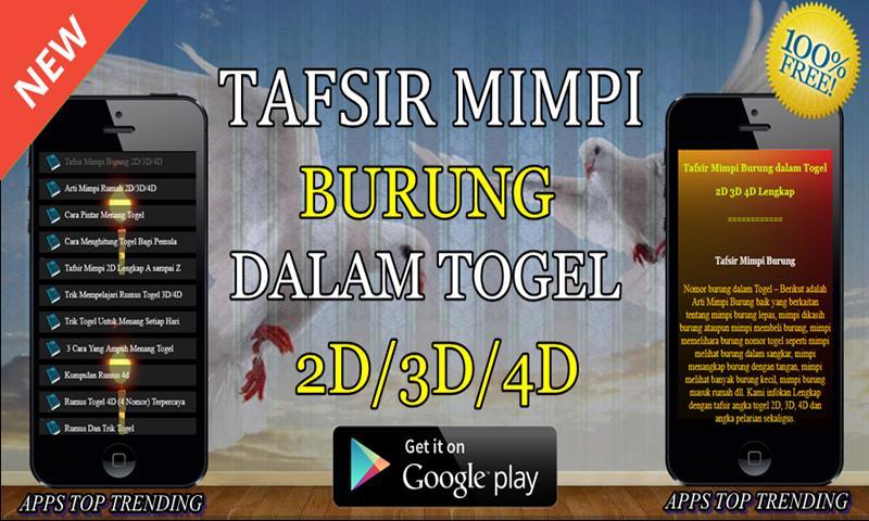 Tafsir Mimpi Burung dalam Togel 2D/3D4D Lengkap for Android - APK