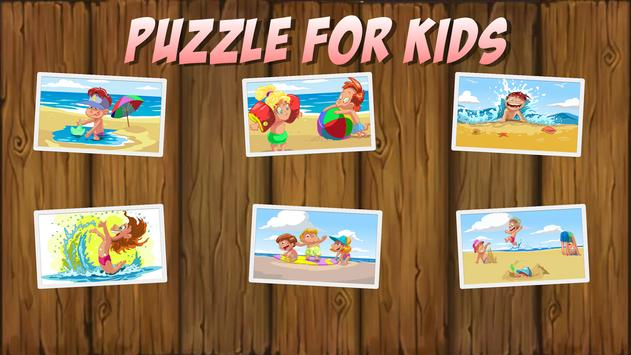 Beach Puzzle For Kids poster