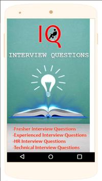 Interview Questions(IQ) poster