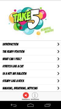 Take 5 Mindful Minutes poster