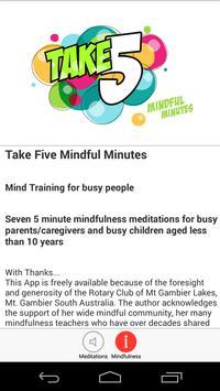Take 5 Mindful Minutes apk screenshot