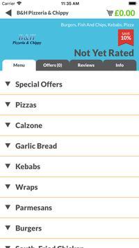 B&H Pizzeria & Chippy screenshot 1
