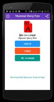 Myanmar Matrix Font apk screenshot