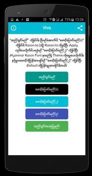 Myanmar Kason Font apk screenshot