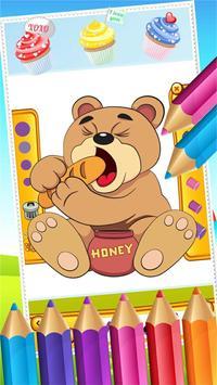 Teddy Bear Coloring Drawing screenshot 5