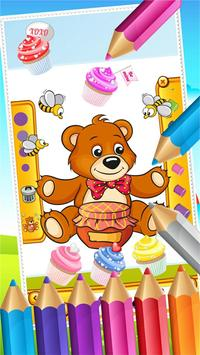 Teddy Bear Coloring Drawing screenshot 3