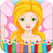 Beauty Fairy Princess Coloring icon