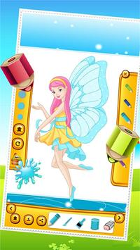 Beauty Fairy Princess Coloring poster