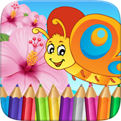 Butterfly Fairy Coloring Book icon