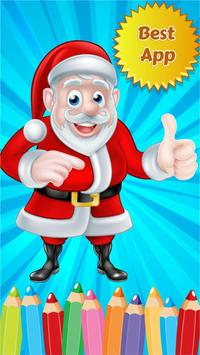 Christmast Coloring Drawing poster