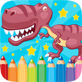 Dino Coloring Book Drawing Kid icon
