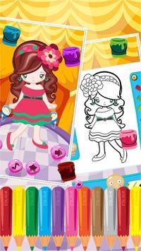 Little Girl Fashion Coloring screenshot 4