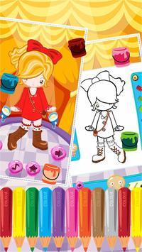 Little Girl Fashion Coloring screenshot 1