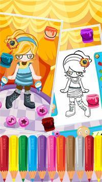 Little Girl Fashion Coloring screenshot 2