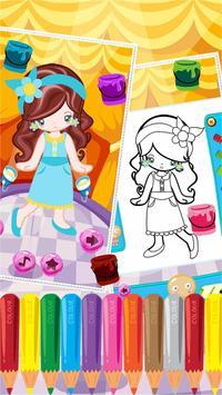 Little Girl Fashion Coloring screenshot 3