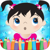 Little Girls Coloring World icon