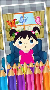 Little Girls Coloring World poster